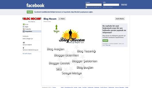 Blog Hocam Facebook Sayfası