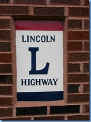 3806 Ohio - Oceola, OH - Lincoln Highway (County Road 330) - brick pillar dedicated to Seiberling