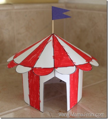 I got idea for the circus tent from First Palette. The site provides complete step by step instructions on how to make your own circus tent as well as a ... & Circus Tent Craft