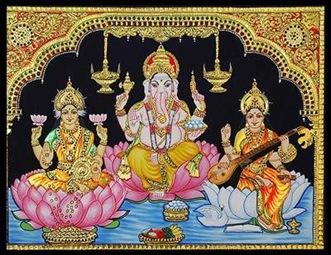 gold ganesh laxmi sarswati