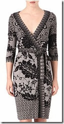 Diane von Furstenberg Lace Print Wrap Dress