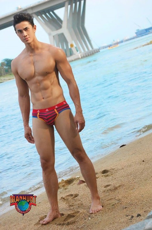 June Macasaet in Red Briefs