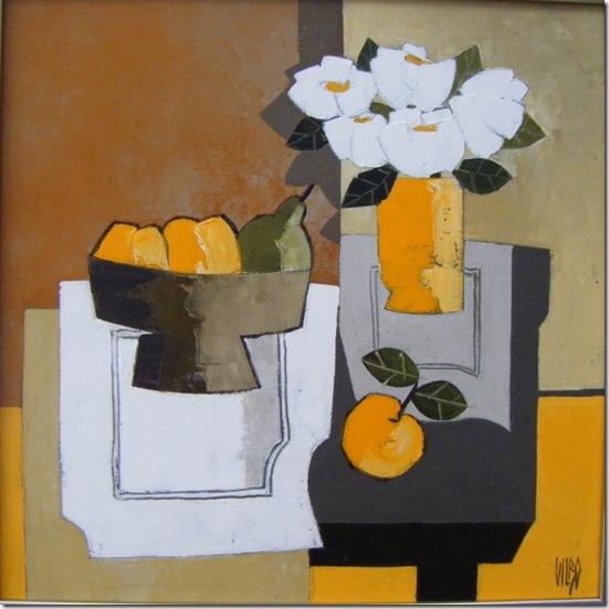 Bouquet au napperona-Alain-Vilbo-ENKAUSTIKOS