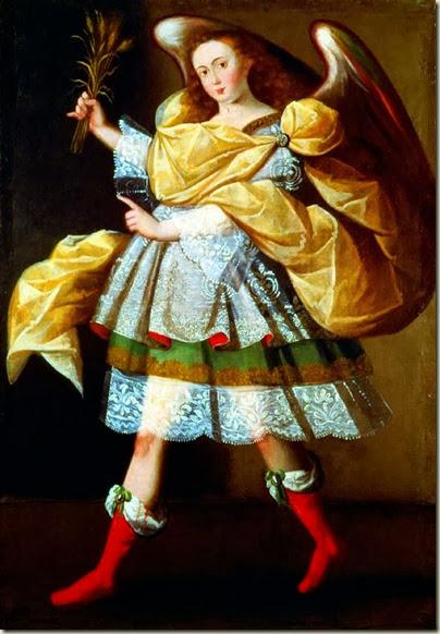 Maître de Calamarca, Ange à l'épi