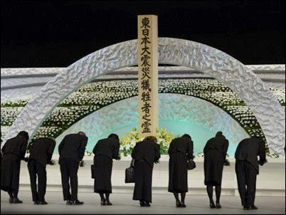 Homenagem em Tóquio às vítimas do tsunami que atingiu o Japão em 2011
