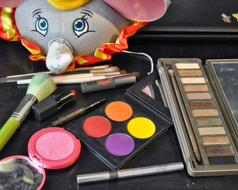 disney dumbo inspired makeup look bright sugarpill tarte urban decay
