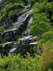 Waterfall near Villa Santa Lucia, Chile.