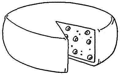 Dibujo para pintar queso - Imagui