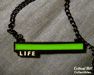 Glowing Life Bar Necklace from Critical Hit Shop