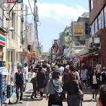 crowded shopping street in Harajuku, Tokyo, Japan