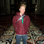 matt at the duomo in Milan, Milano, Italy