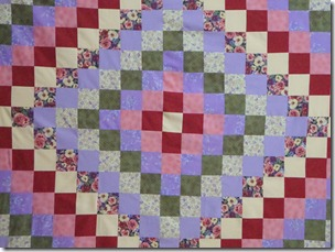 Around the world quilt 009