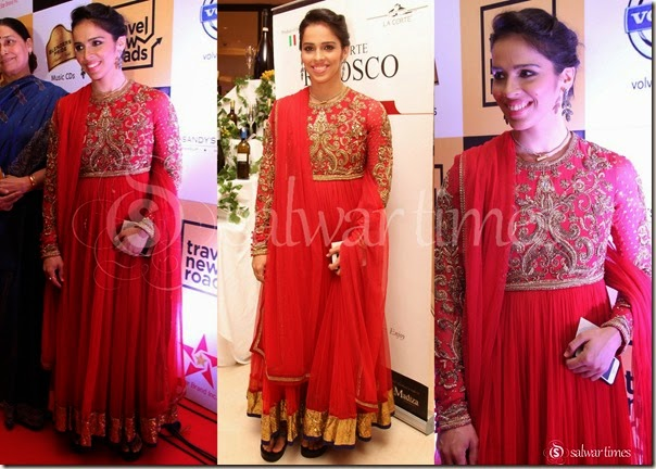 Saina_Nehwal_Long_Embrodiery_Kameez