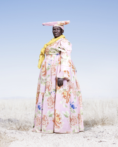 Herero woman with yellow scarf jpg