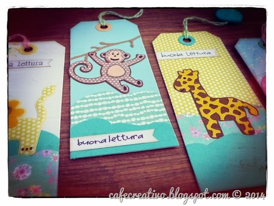 cafe creativo - sizzix big shot - bookmark - segnalibri