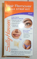 how to use sally hansen wax strip kit