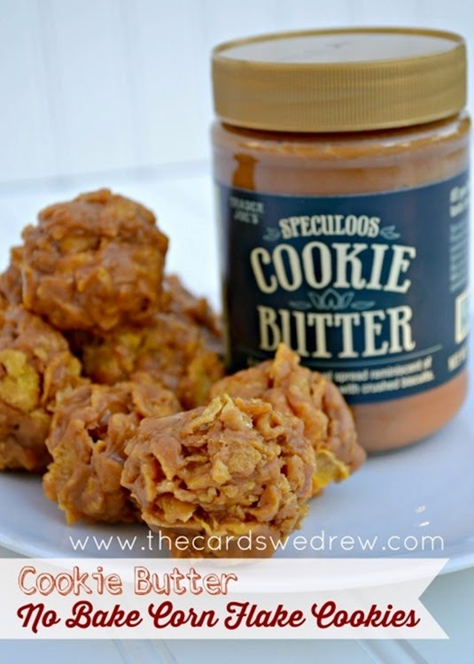 Cookie-Butter-No-Bake-Corn-Flake-Cookies