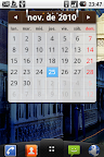 LG Optimus One widget calendario