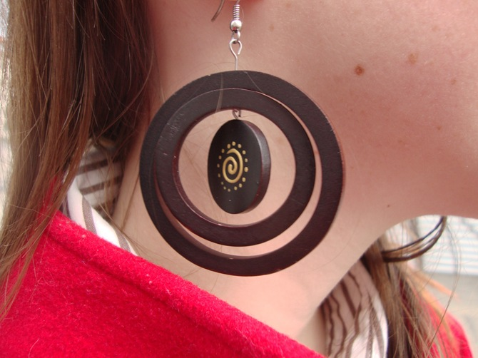 unique wooden earrings