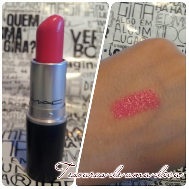 batom MAC chatterbox - swatch