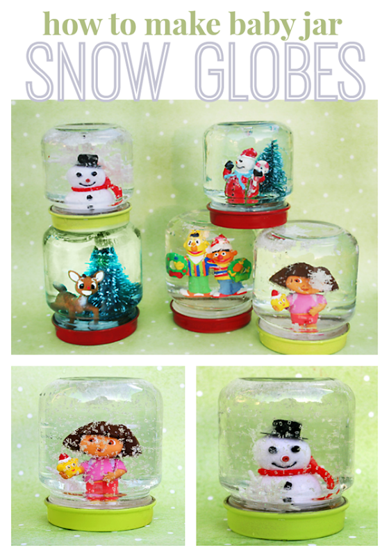 Baby Food Jar Snow Globes How to Make Sno...