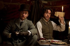 Jude Law and Robert Downey Jr (Sherlock Homes: A Game of Shadows)