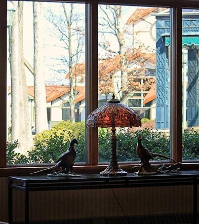 pheasent under glass