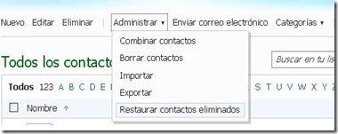 recuperar contactos eliminados en windows live 2