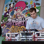 atomic lollipop DJ at work at anime north 2013 in Toronto, Ontario, Canada