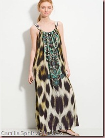 Camilla Sphinx Emebllished Silk Maxi Dress