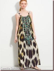 Camilla Sphinx Emebllished Silk Maxi Dress