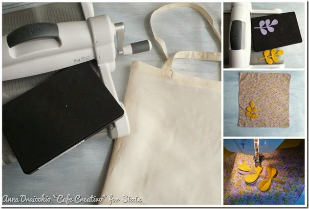 cafe creativo - sizzix big shot plus starter kit - tutorial - shopping bag - felt fabric - feltro stoffa (4)