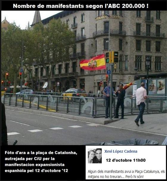 12 octobre manifestacion per la nacion espanhòla a Barcelona