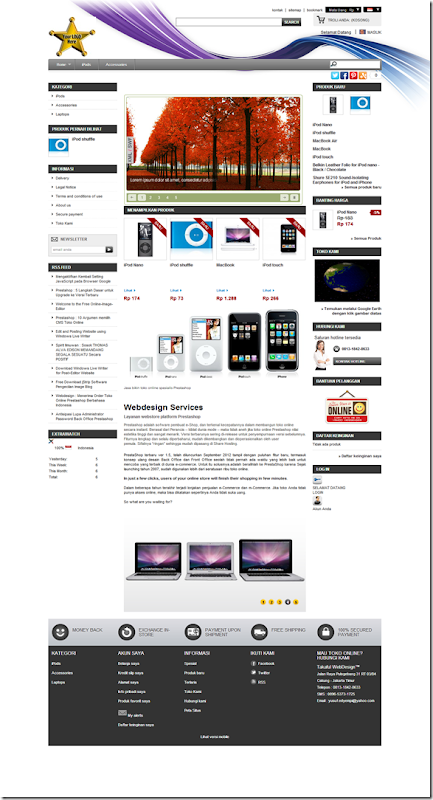 demo website toko online prestashop versi 1510