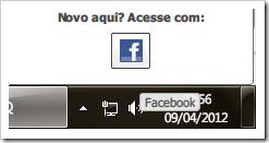 Acesse ICQ com Facebook