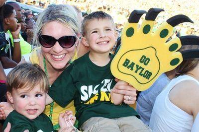Nash's 1st day of School & Baylor Game 066