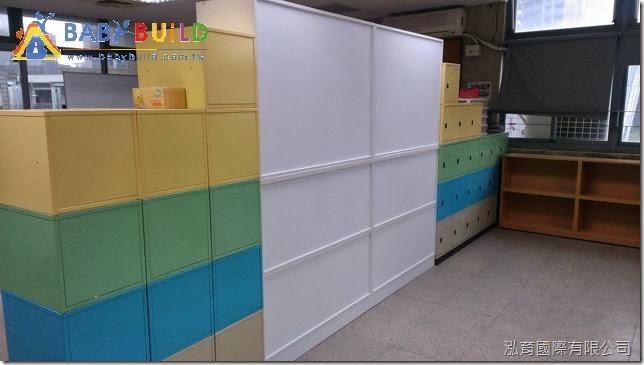 教室白板櫃背面完工照