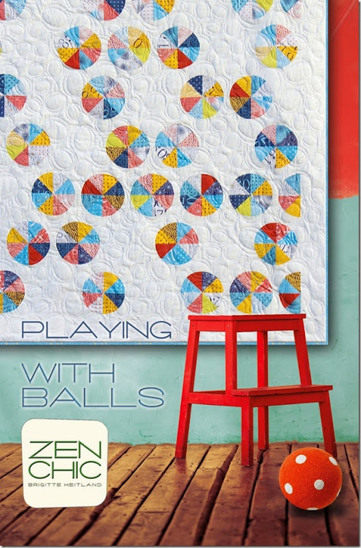 Playing with balls Modern quilt pattern ZEN CHIC