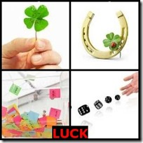 LUCK- 4 Pics 1 Word Answers 3 Letters
