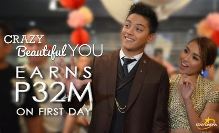 Crazy Beautiful You earns P32M on first day
