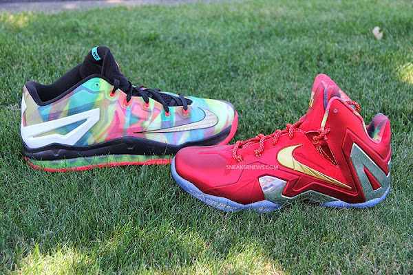 LBJ Wears LeBron 11 Low Championship Sample at His Skills Academy