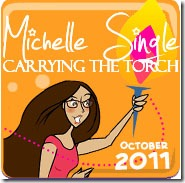 Badges.October.Michelle Single.Orange