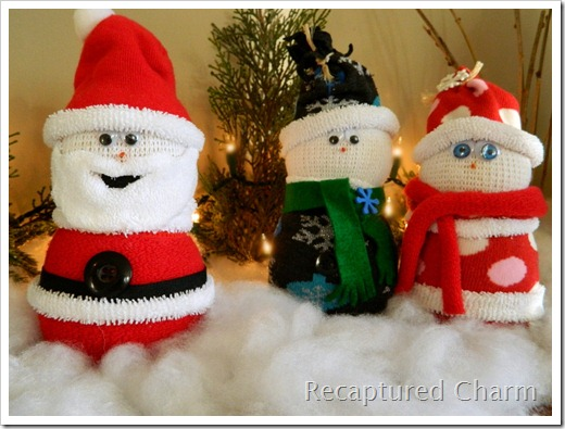 Sock Snowman Sock Santa 038a