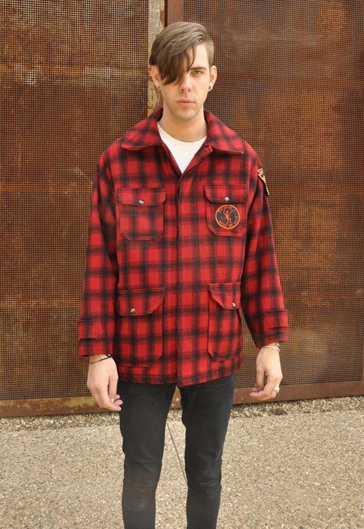 Vintage Woolrich Check Hunting Jacket, £75, Peace Corps