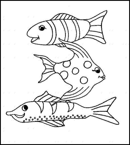 Peces colorear Fishes coloring 15
