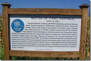 Battle of Port Republic, Circle Tour marker on Route 340