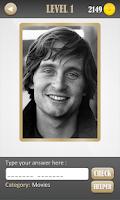 Screenshot of Celebrity Rare Photo Quiz