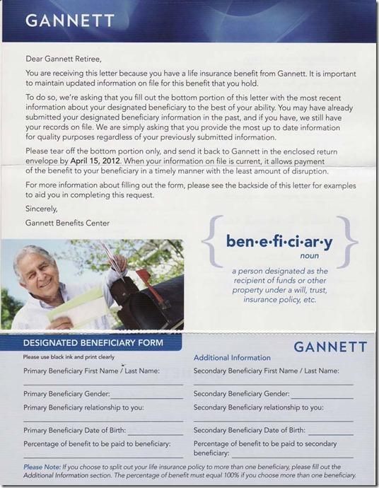 gannett benefits
