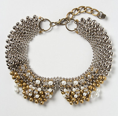 This beaded collar instantly takes your super casual outfit into a va-va-voom ensemble. (Sparked Agate Collar, $58, anthropologie.com)