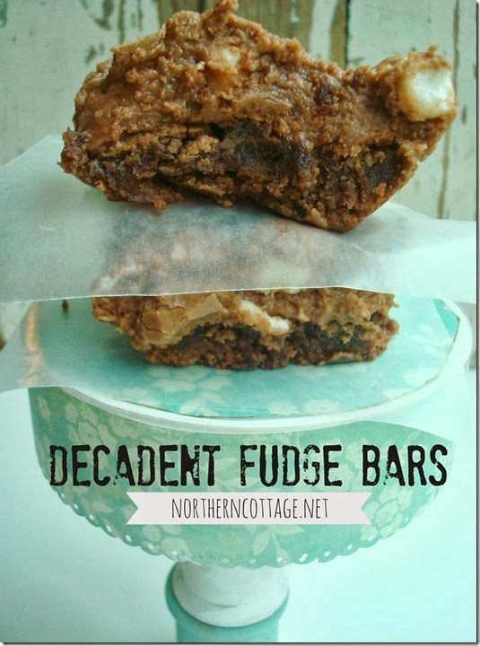{Northern Cottage} decadent FUDGE BARS